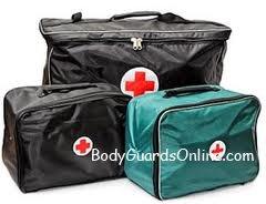 Аптечка тілоохоронців і охоронців. Засоби і пристрої для надання першої допомоги.