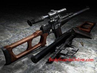 """Снайперська гвинтівка """"ВСС« Гвинторіз »"""" (РОСІЯ)."""