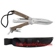 Тактичний ніж для виживання використовуємий як військовими так і рятувальними службами. Ніж - Перевертень.