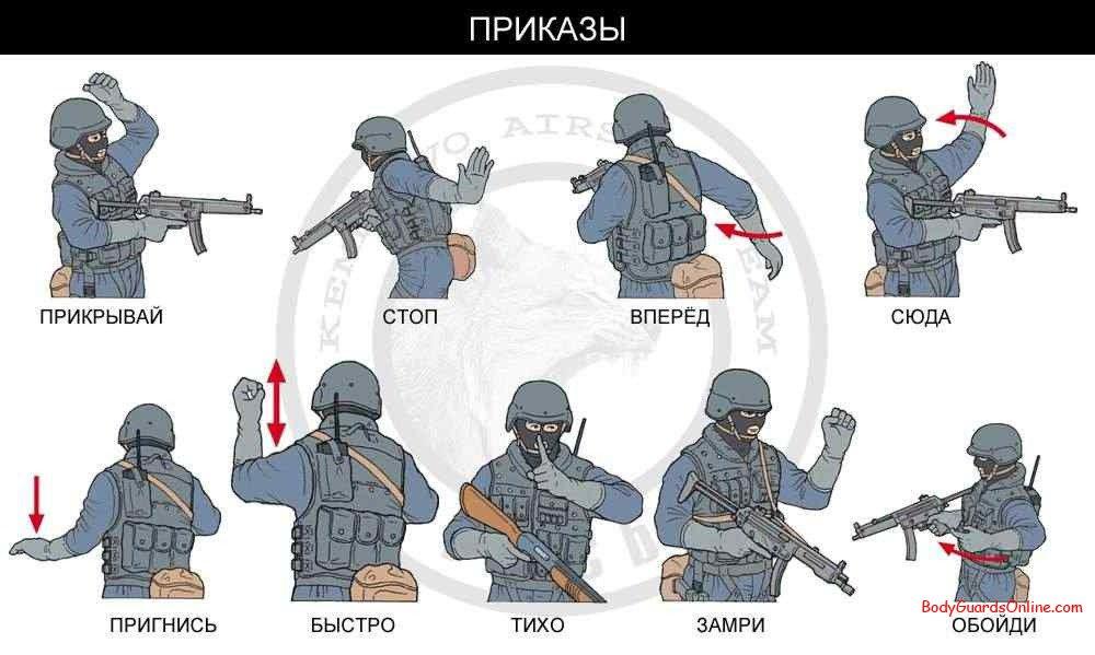 жесты руками в армии удовольствием