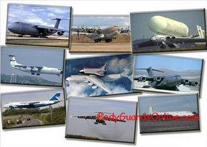 Дев'ять військово - транспортних найважчих літаків у світі.