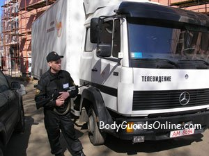 Безпека вантажоперевезень або охорона і супровід вантажів.