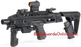 Glock, при наявності додаткових аксесуарів - це вже не пістолет а ...