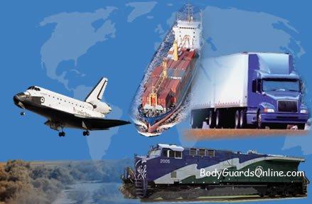 Особливості охорони вантажів перевезених по воді, землі і повітрю