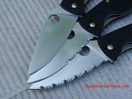 Тестування заточування ножа Spyderco Tenacious - звичайне, серейторне і комбіноване