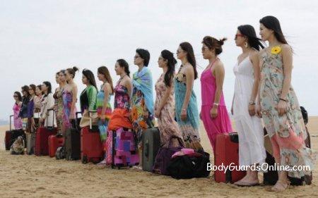 Підготовка китайських дівчат-тілоохоронців